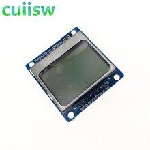 1 pçs azul 84x48 nokia 5110 módulo lcd com luz de fundo azul com adaptador pcb para arduino