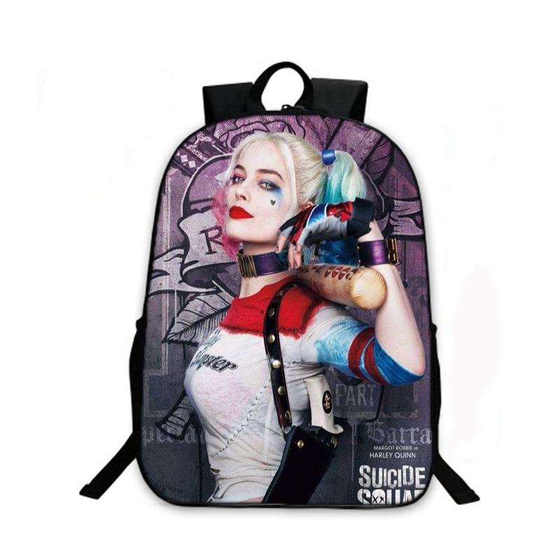 Suicide Squad Backpack For Teenager Children Harley Quinn -7833