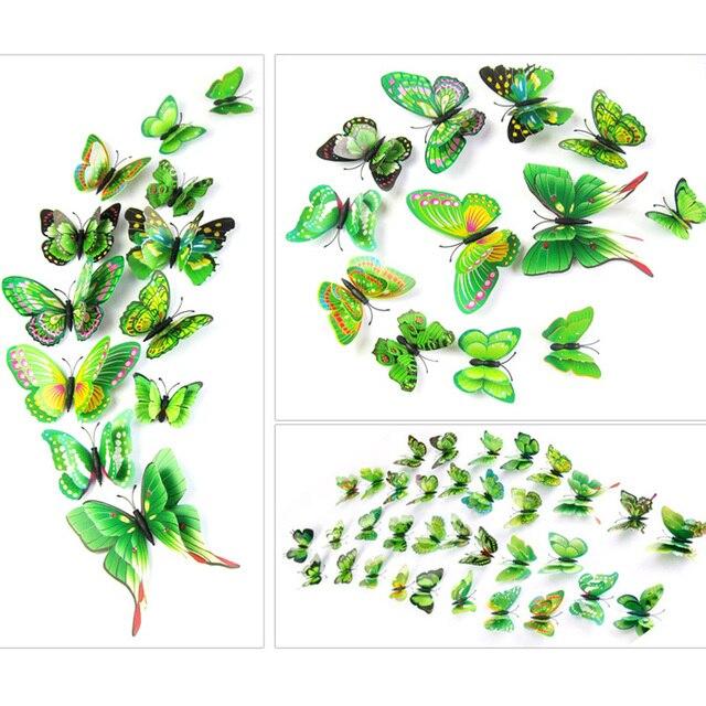 10pcs  Artificial Butterfly Luminous Fridge Magnet for Home Christmas Wedding Decoration 3