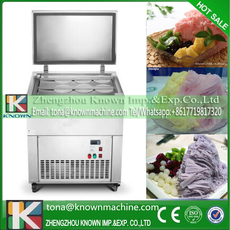CE 1500W commercial full intelligence milk snowflake ice machine with air cooling way by sea