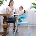 Multifuncional Bebé Silla de Comedor de Bebé Plegable Ajustable Silla de Alimentación Puede dividir Bebé Trona Asiento de Mesa Sillas de Bebé