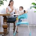 Multifuncional Bebê Cadeira de Jantar Ajustável Dobrável Bebê Cadeira De Bebê Cadeira de Alimentação Pode dividir Mesa Cadeiras de Assento de Bebê