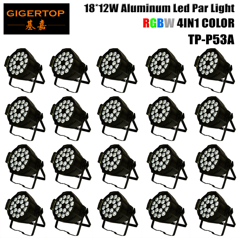20XLot Quad Color Led Par 18 x 12W RGBW 4 in 1 Indoor IP20 LED Par Light 220W RGBW PAR DMX PAR Stage Lighting Stage Washer Light
