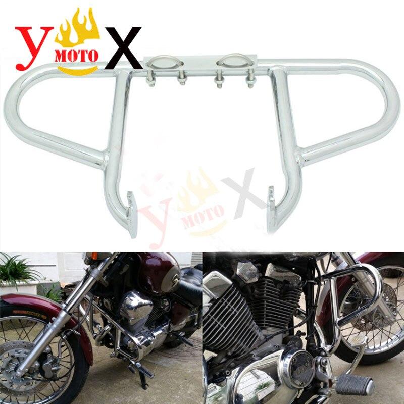 XV250 Motorcycle Chrome Crash Bar Engine Guard Protection For Yamaha Virago 250 XV 250 1998 2007