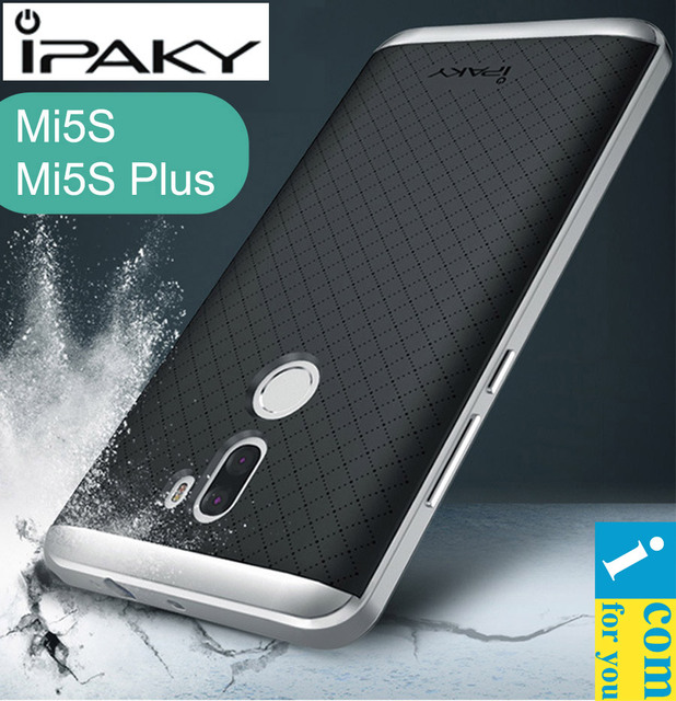 iPaky Cover Case For Xiaomi Mi5S Plus Snapdragon 821 Hybrid Slim Armor Protector shell 2 in 1 Frame + Silicone