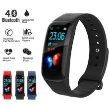 купить LIGE 2019 New Smart Watch Heart Rate Blood Pressure Monitor fitness tracker Smart Wristband Waterproof Sport Smart Bracelet Band онлайн