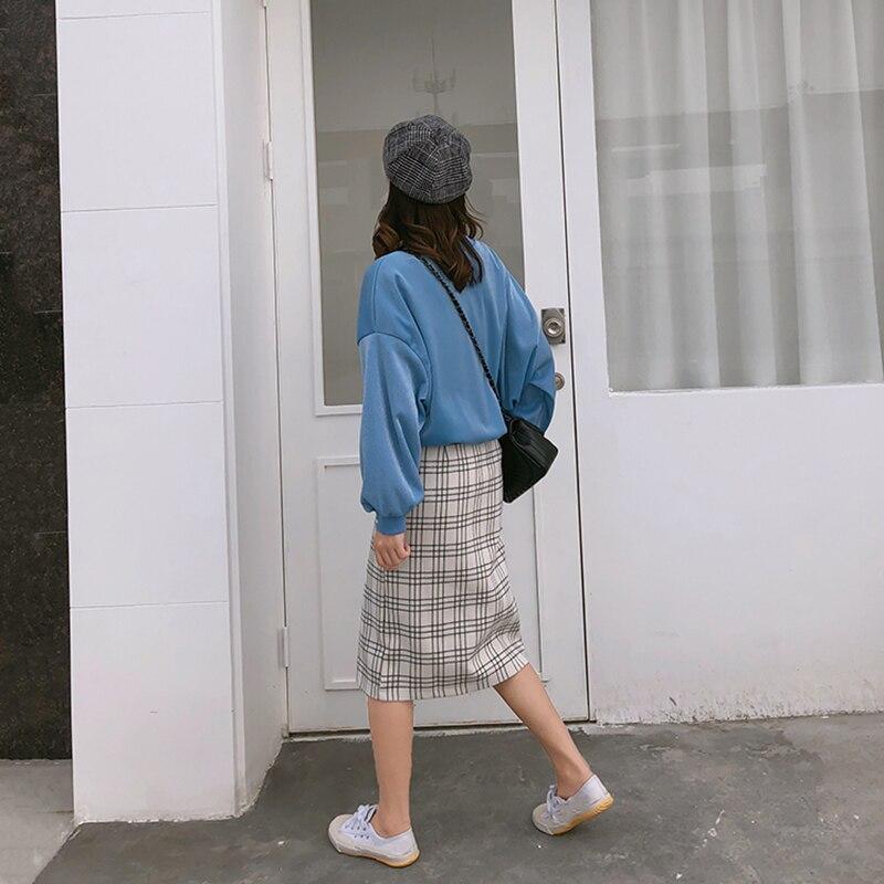 Okxgnz Dames Femmes Jupe Nouveau Jeune xl De Costume pu Ensembles Chandail 2 Plaid Lâche Ciel Rose S 2018 Vogue Pièce Outwear Ensemble Casual 5xfOAqwnX
