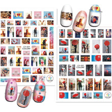 nail sticker Newest CA-429 430 lovely design 3d decals template back glue DIY decorations for wraps