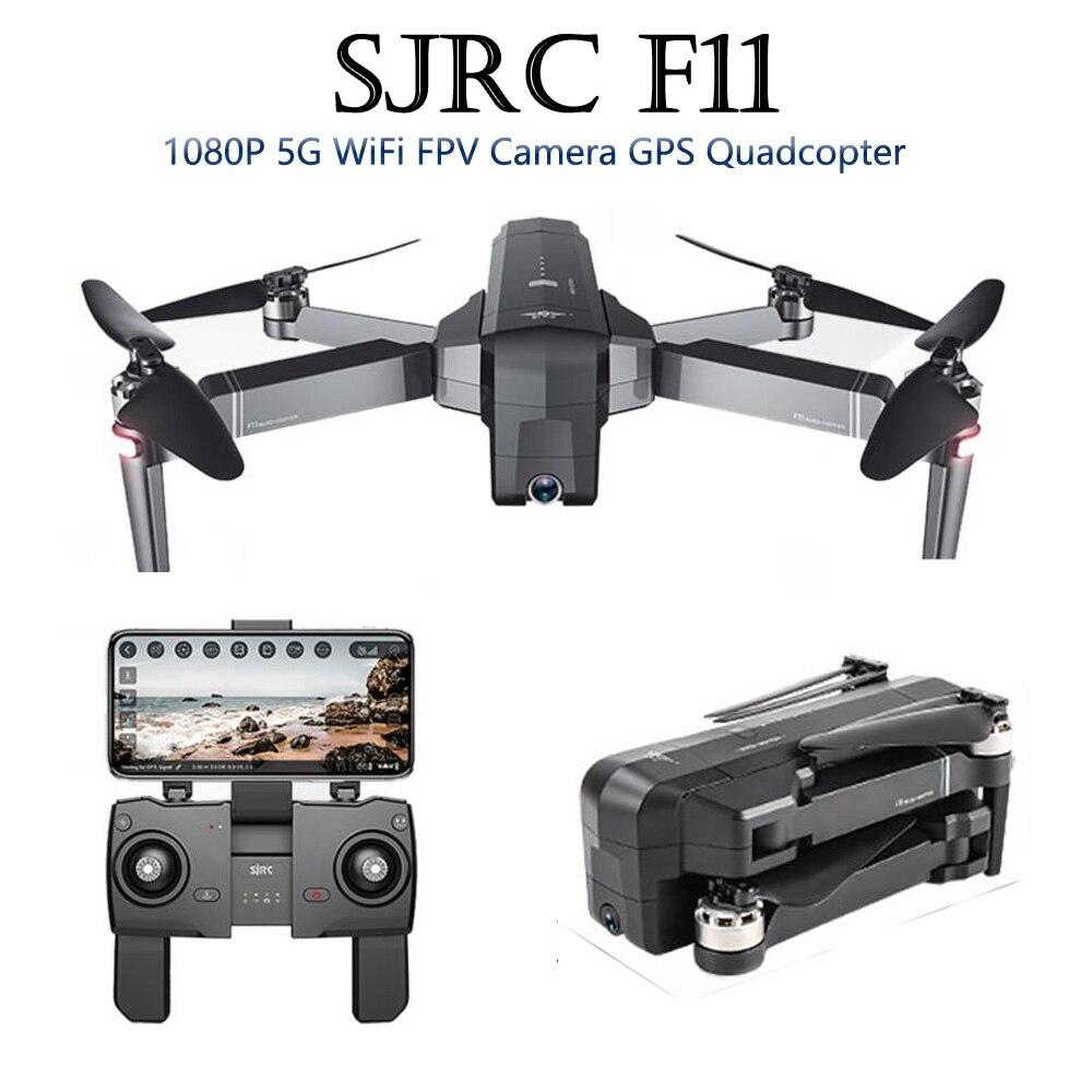 SJRC F11 GPS 5G WiFi FPV Com 1080 P Câmera Brushless Quadcopter 25 minutos de Tempo de Vôo Gesto Braço Dobrável selfie RC Dron VS CG033
