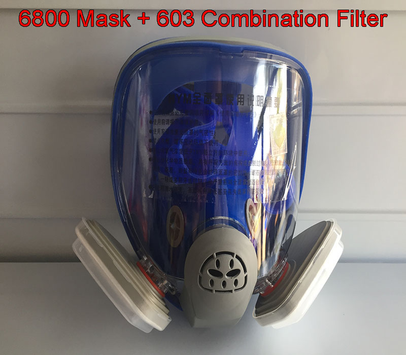 купить 6800 gas mask + 603 Holder 5N11 Filter cotton 501 filter box respirator mask against dust PM2.5 Welding fumes protective mask