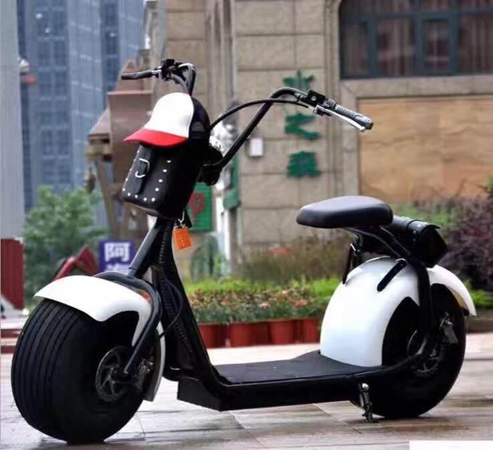 Batterie électrique au Lithium Citycoco Scooter motos électriques Moto Electrica Double frein à disque
