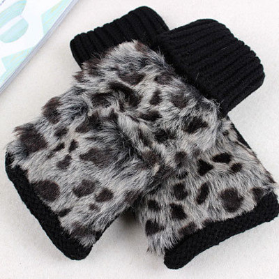 Fluffy Wool Women's Knitted Gloves Short Length Wrist Arm Warmer Winter Fingerless Mitten Dropshipping