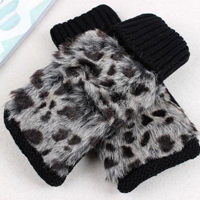 Fluffy Wool Women's Knitted Gloves Short Length Wrist Arm Warmer Winter Fingerless Mitten Dropshipping