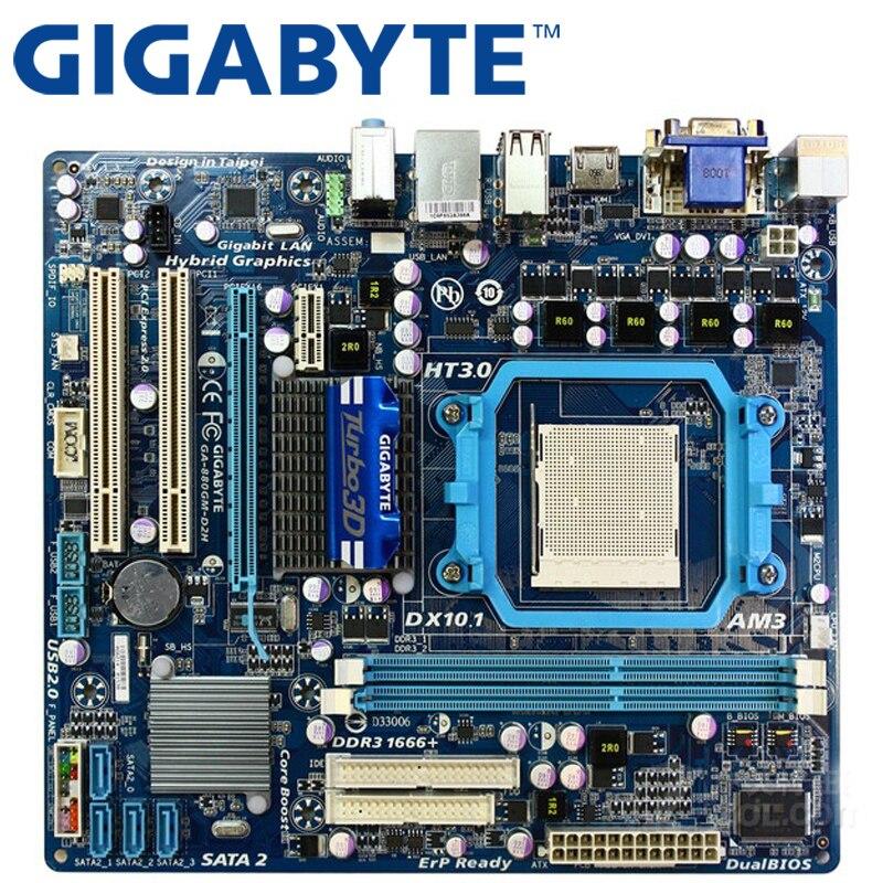 GIGABYTE GA-880GM-D2H Socket AM3+//AM3 DDR3 8GB Micro ATX Computer Motherboard