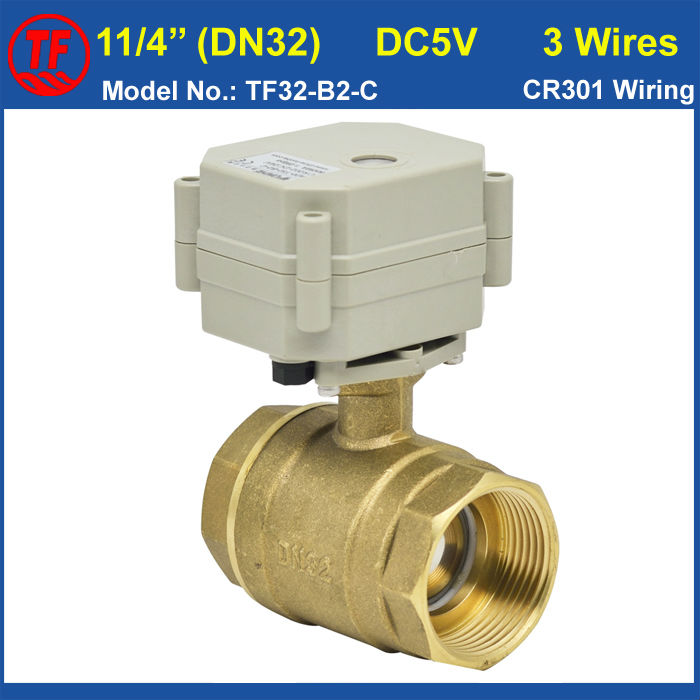 High quality 5vdc 3 wire dn32 11 4 39 39 electrical operated for How motor operated valve works