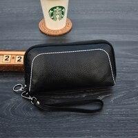 Genuine Leather Women Wallets Fashion Lady Wristlet Handbags Long Money Bag Cards Holder Clutch Women's Wallet Purse Coin Purse