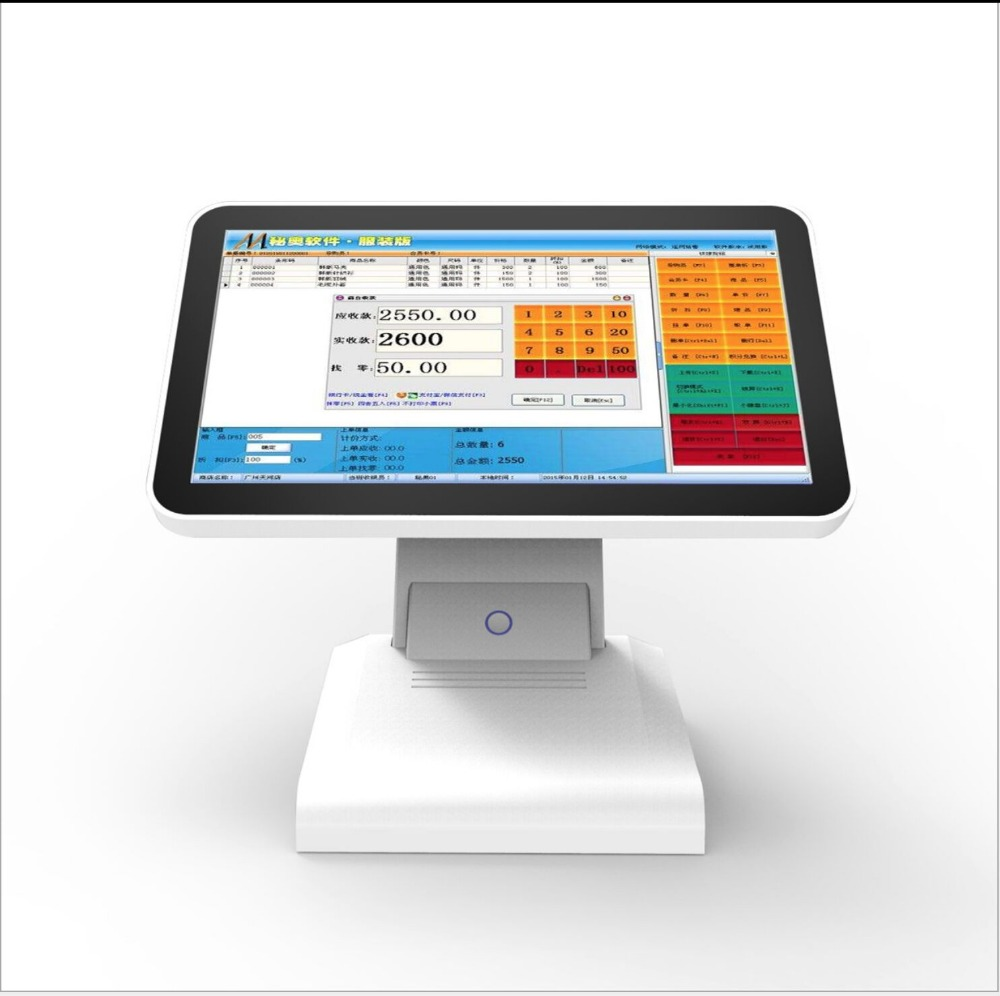 "Cheap 15.6"" Touch Dual Screen All In One Pos Manufacturer With Optional Android OS"
