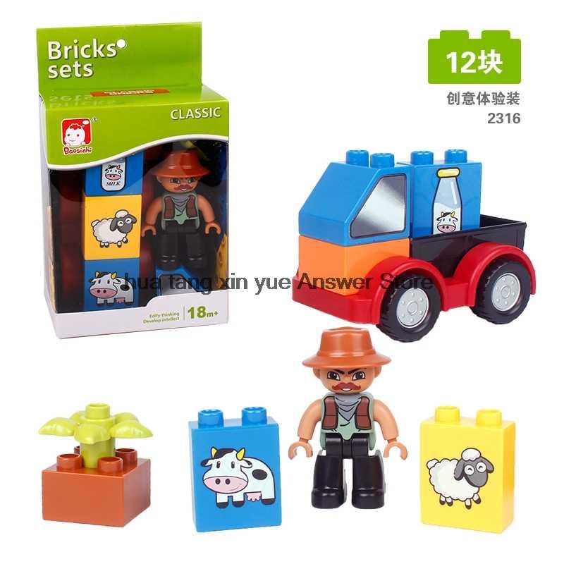 Legoing Duplo casa de Amigos Menino e Menina Figuras Modelo de Carro caminhão de Frutas DIY Blocos de Construção de Tijolos de Brinquedo do Miúdo Legoings Cidade conjuntos de carro