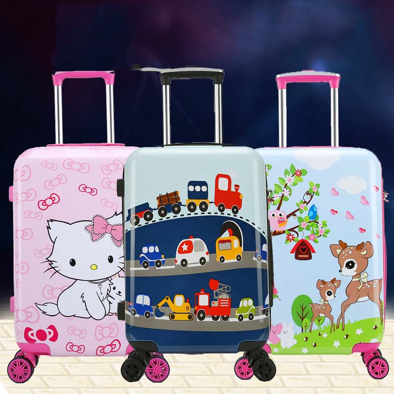 LeTrend Cute Cartoon Children Rolling Luggage Spinner Suitcase Wheels Students Cabin Trolley 19/20 Inch Travel Bag