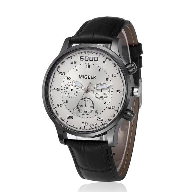 Quartz Wristwatches Montre Homme   Luxury   Leather Band Men's Watches  Top Brand Business  Watch   17DEC22