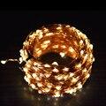 1X50 M 165Ft 500 100LEDS Fio de Cobre Led Luzes Cordas de Fadas, Inclui Adaptador De Potência De Saída 24V-2A (REINO UNIDO, EUA, UE, AU Plug), Luzes Do Feriado