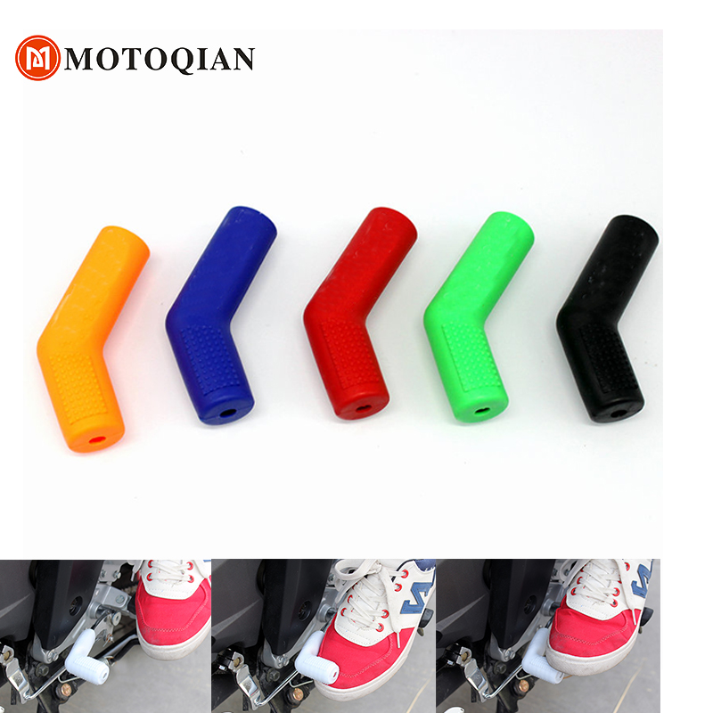 Motorcycle gear shifter shoe protector case cover shift lever protective moto parts rubber motorbike accessories boot free shipping new rubber shift sock boot and shoe protector shift cover ryder clips white