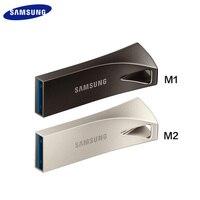 SAMSUNG USB 3,1 USB флеш-накопитель 32 Гб 64 Гб 200 МБ/с. 128 ГБ 256 300 МБ/с. металлический флэш-накопитель бар Pendrive запоминающего устройства