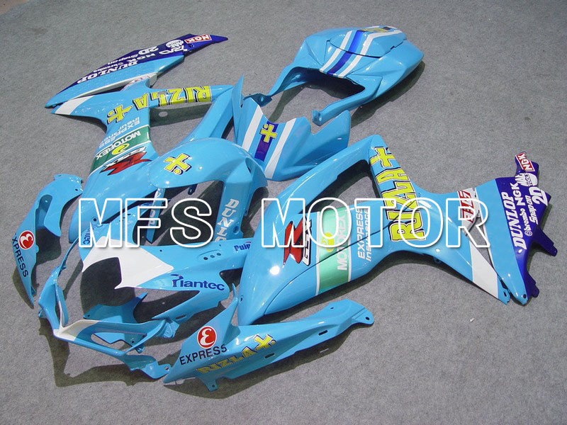 2008-2010 For Suzuki GSXR 600/750 K8 Injection ABS Fairing - Rizla+ - Blue/White lowest price injection fairing kit for suzuki k8 gsxr 600 700 2008 2010 gsxr600 gsxr750 08 09 10 golden black fairings jl52