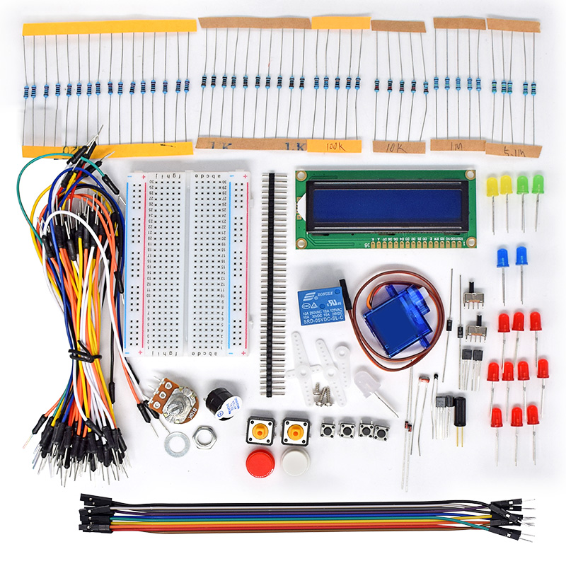 New Project 1602 LCD Starter Kit For Raspberry Pi 3 2 B/B+ Servo LED PDF Python LCD1602  ...