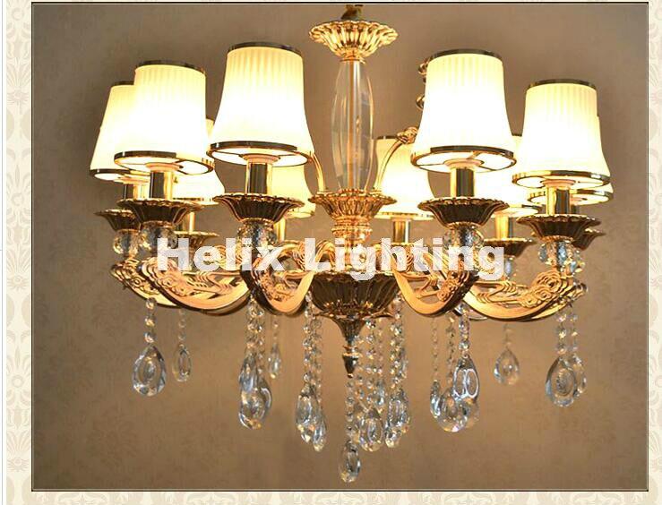 Moderne Kronleuchter Gold ~ Neu goldene legierung kronleuchter kristall lichter fabrik