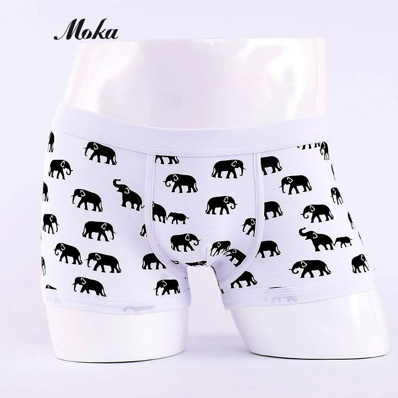 Animal Print Underpants Breathable Mens Boxers Shorts Cotton - Underwear
