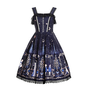 Image 1 - Astrology College ~ Sweet Printed Midi Party Dress Lolita JSK Dress