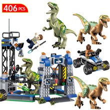 Мир Юрского периода 2 Конструкторы LegoINGLYS Парк Юрского периода Динозавр транспорт тираннозавр рекс животных кирпичи игрушечные лошадки для детский подарок