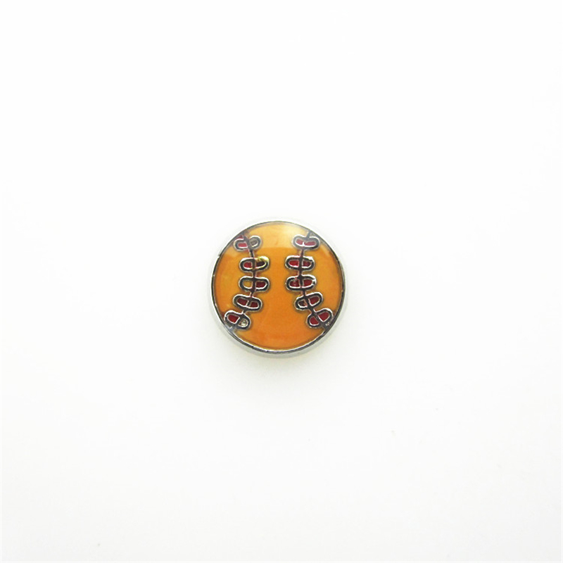 Hot selling 20pcs/lot Orange Baseball Floating Charms Living Glass Memory Floating Lockets Charm DIY Jewelry Wholesale