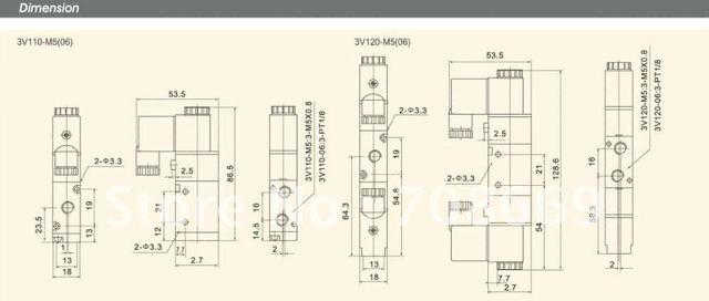 "3V210-08 DC24V 3Port 2Position 1/4"" BSP Single Solenoid Pneumatic Air Valve"