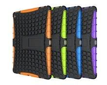 """Heavy Duty Caso a prueba de golpes Para iPad pro Proteger La Piel Híbrida de Goma Soporte de La Cubierta Para el ipad pro 12.9 """"Durable 2 en 1 de la tableta de coque"""