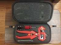 2015 NEW Product 1 Set Professional Red Color Gardening Pruner Shear Grafting Cutting Scissors Secateur Grafting Machine Tools