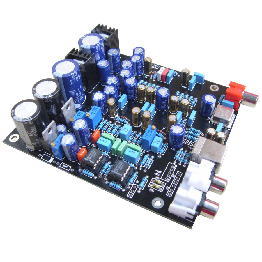 Free Shipping PCM2706 DIR9001 WM8740 Double Parallel Have A Fever DAC Decode Board HIFI Digital Decoder