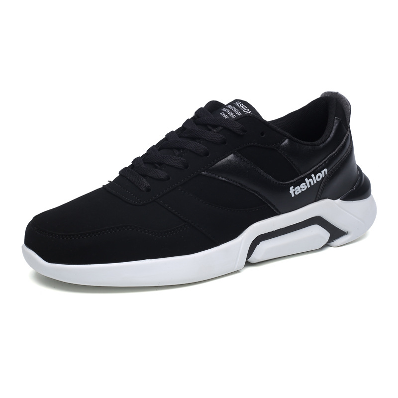 2019 new high shock absorption solid color Men 39 s sneakers trend running shoes wear quick drying casual breathable male shoes in Men 39 s Vulcanize Shoes from Shoes
