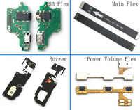 Para Huawei P20 lite Nova 3e Nova3e conector de clavija de carga USB Flex + Flex principal + altavoz fuerte + fuerza volumen flexible