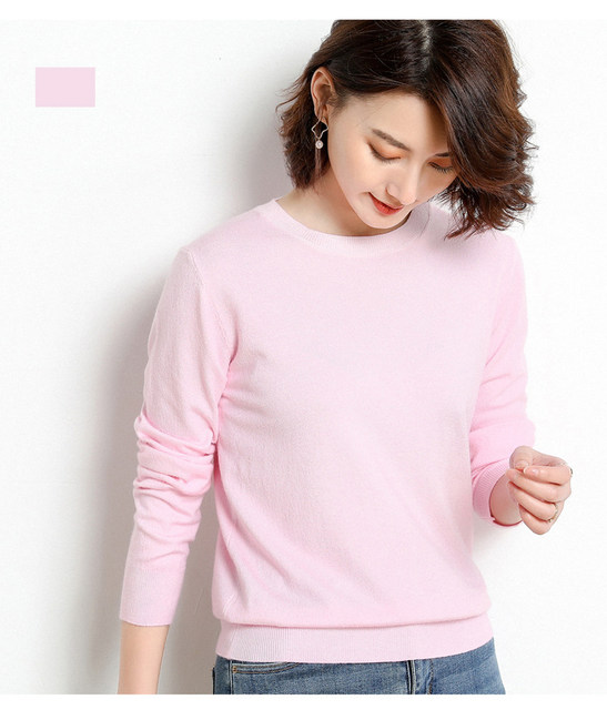 Yellow Cashmere Sweater For Women Sweaters Female Pink Wool Winter Woman Sweater Knitting Pullovers Knitted Sweaters Jumper 2019 42