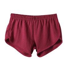 Fast Drying Drawstring Women Shorts Casual Anti Emptied Cotton Contrast Elastic Waist Correndo Short Esportes shorts S4