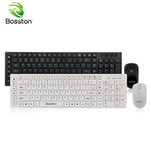 hot deal buy bosston wireless keyboard and mouse set 2.4ghz bluetooth nano receiver ultra thin keyboards for laptop tablet