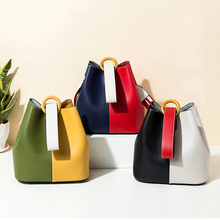 Fashion handbag korean Ladies shoulder messenger bag color bucket bag luxury crossbody bags for women with wide shoulder strap