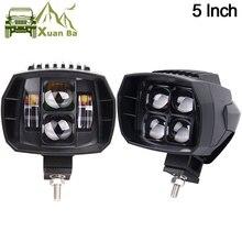 2 pces 5 polegada 35w led luz de trabalho alta baixa feixe 12v 4x4 offroad barco caminhão suv atv motocicleta farol para jeep 24v luzes de condução