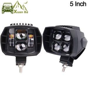 Image 1 - 2 pces 5 polegada 35w led luz de trabalho alta baixa feixe 12v 4x4 offroad barco caminhão suv atv motocicleta farol para jeep 24v luzes de condução