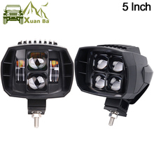 XuanBa 2Pcs 5 inch 35W Led Work Light High-Low Beam 12V 4×4 Off road Boat Truck SUV ATV Headlight For Jeep 24V Driving Lights