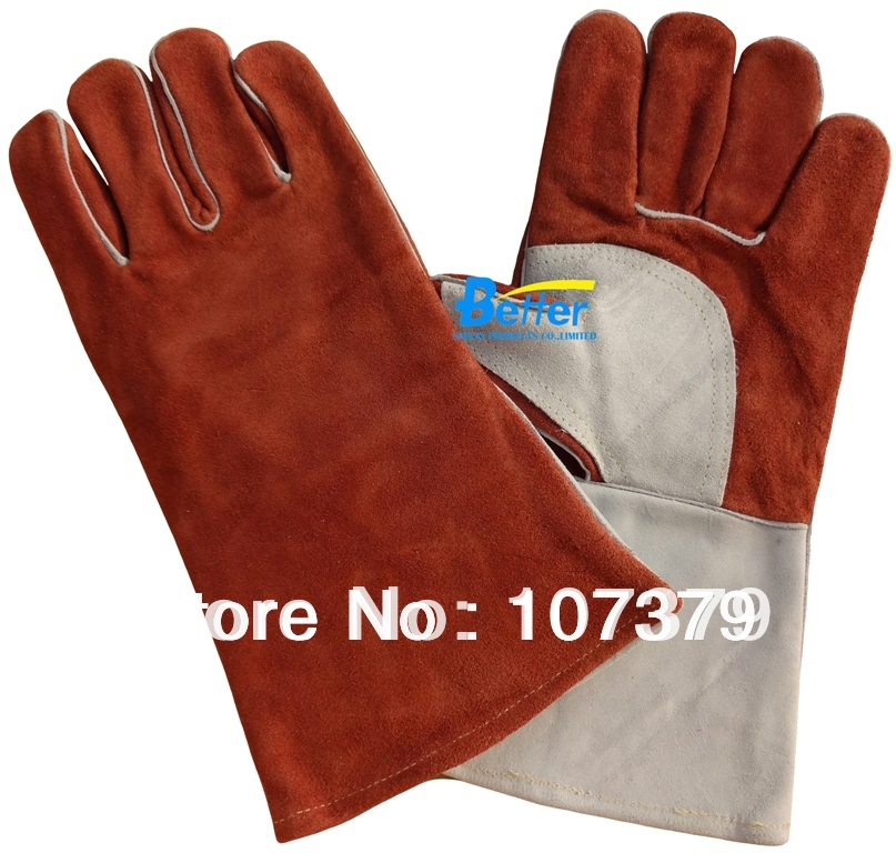 Leather Work Glove Deluxe Leather TIG MIG Welding Safety Glove Comfoflex Coffee Colour Cow Split Leather Welder Glove leather safety glove deluxe tig mig leather welding glove comfoflex leather driver work glove