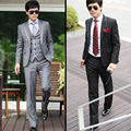 2017 new arrival terno masculino, luxury men's casual fashion suits, two- pieces blazer + trousers, slim mens wedding dress