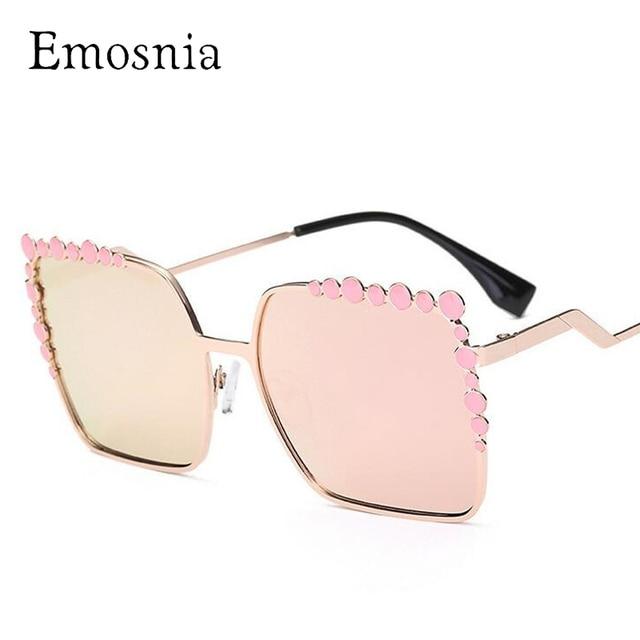 Emosnia de Grandes Dimensões Do Vintage Óculos De Sol Mulheres Praça Chic  Retro Marca Designer de 6a9b459893